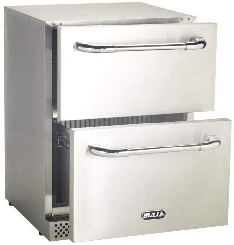 Bull Outdoor Products Double Drawer Outdoor Rated Refrigerator, Stainless Steel - 17400